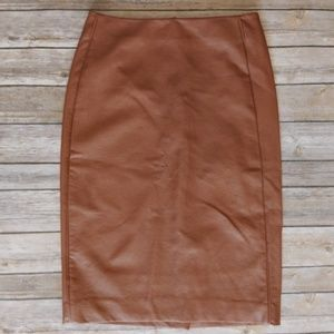 Nwt The Limited Vegan Leather Pencil Skirt